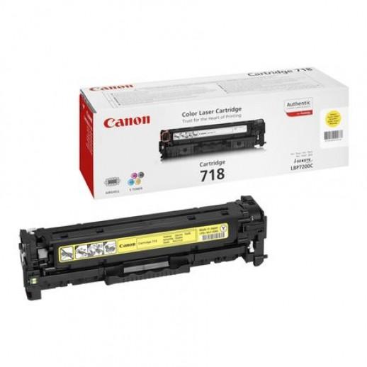 Cartus toner CANON CRG718Y yellow original