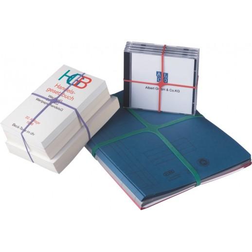 Elastice pentru carti, forma X, 100g/cutie, D 100 x 11mm, ALCO