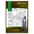 Bloc desen A4, 20 file - 210g/mp, pentru schite creion/marker, AURORA Bristol