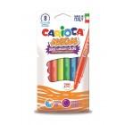 Creioane colorate fluorescente, triunghiulare, 6 culori/cutie, CARIOCA Maxi Neon