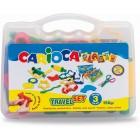 Kit 6 culori x 50gr plastilina + 10 forme modelaj + accesorii, CARIOCA Plasty
