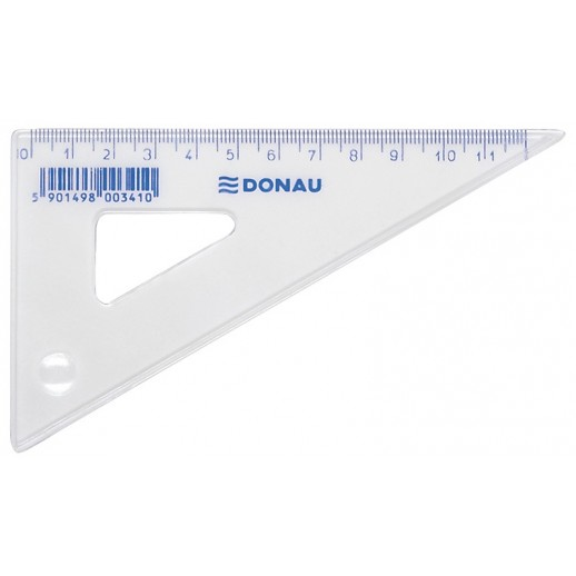 Echer 120mm, 60 grade, DONAU - transparent