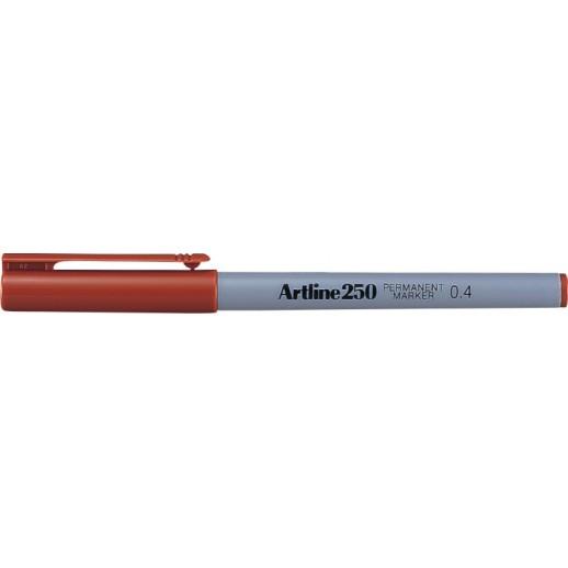 Permanent marker ARTLINE 250, corp plastic, varf rotund 0.4mm - maro