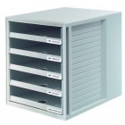 Suport plastic cu 5 sertare pentru documente, HAN (open) - gri deschis