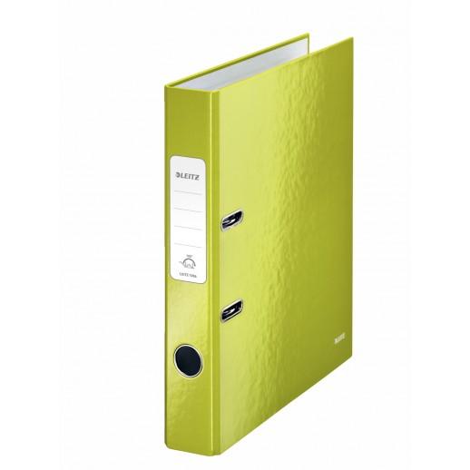 Biblioraft LEITZ 180 Wow, A4, 50mm, carton laminat - verde metalizat