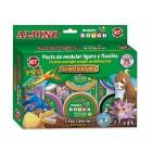 Kit 6 culori x 40gr plastilina magica + 4 seturi accesorii, ALPINO Dinosaurs