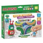 Kit 4 culori x 40gr plastilina magica + 2 mecanisme, ALPINO Robots